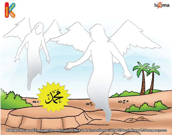 Kedua lelaki itu membaringkan Muhammad di padang rumput dan membuka pakaiannya