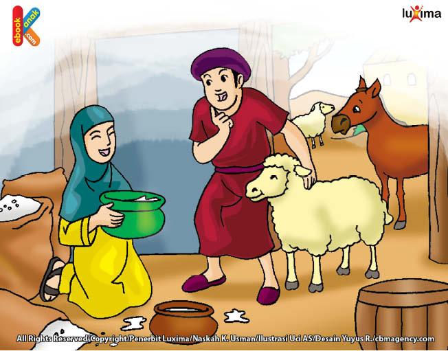 suami Halimatussa'diyah memanaskan susu unta