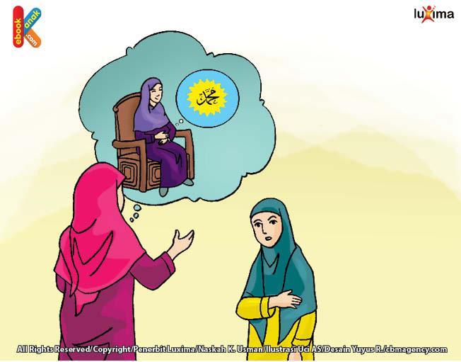 ketika Muhammad masih dalam kandungan aminah