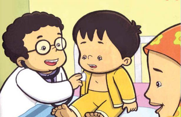 Ibu segera membawa Zaki ke dokter. Zaki harus istirahat dan minum obat, ya!
