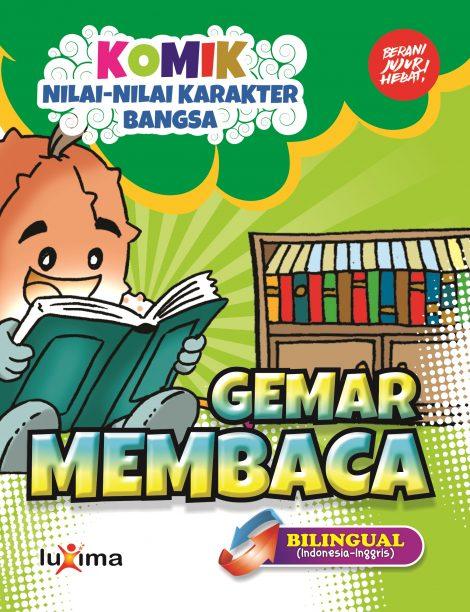 download gratis ebook komik nilai-nilai karakter bangsa gemar membaca bilingual bahasa indonesia dan bahasa inggris.