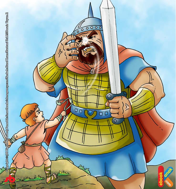 Nabi Daud alaihissalam melihat pasukan Bani Israel berdiri ketakutan ketika harus berhadapan dengan Jalout yang dikenal gagah perkasa