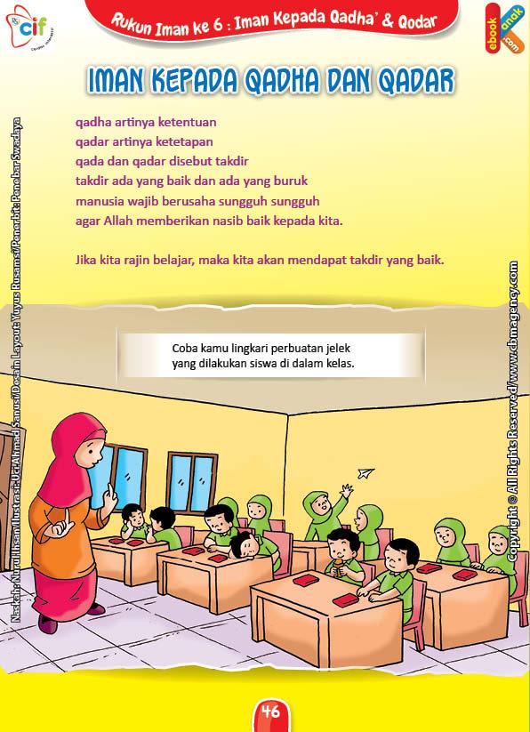 Download Gratis Worksheet Iman Kepada Qadha dan Qadar