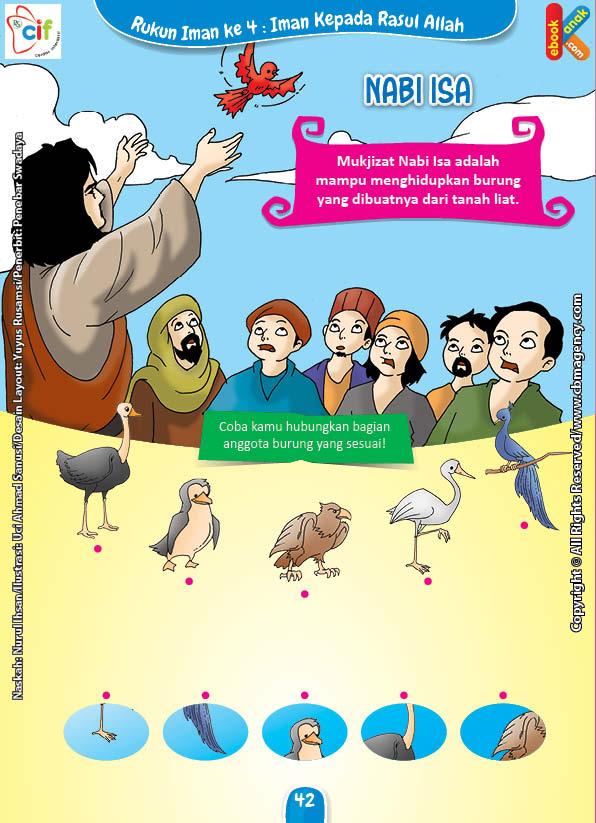 Download Gratis Worksheet Nabi Isa