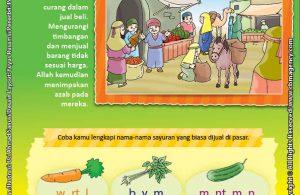 Download Gratis Worksheet Nabi Syuaib