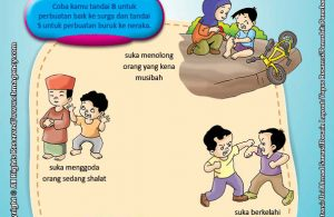 Download Gratis Worksheet Surga dan Neraka