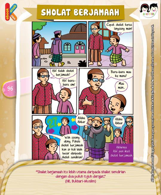 Komik Hadits Keutamaan Shalat Berjamaah Berpahala 27 Derajat