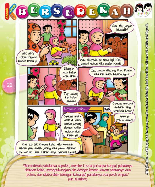 Komik Hadits Silaturahim Dengan Keluarga Bernilai Sedekah
