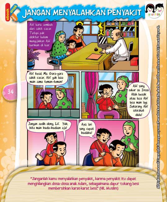 Komik Hadits Penyakit Penghilang Dosa Anak Adam