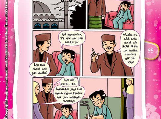 Komik Hadits Shalat Tidak Diterima Jika Tidak Berwudhu