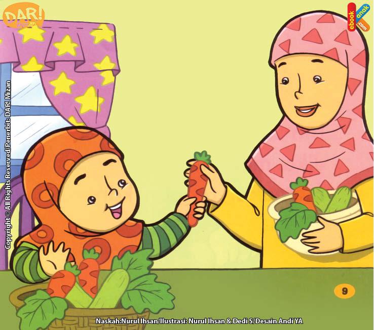 Cara Hana Membantu Ibu Memilih Sayuran.