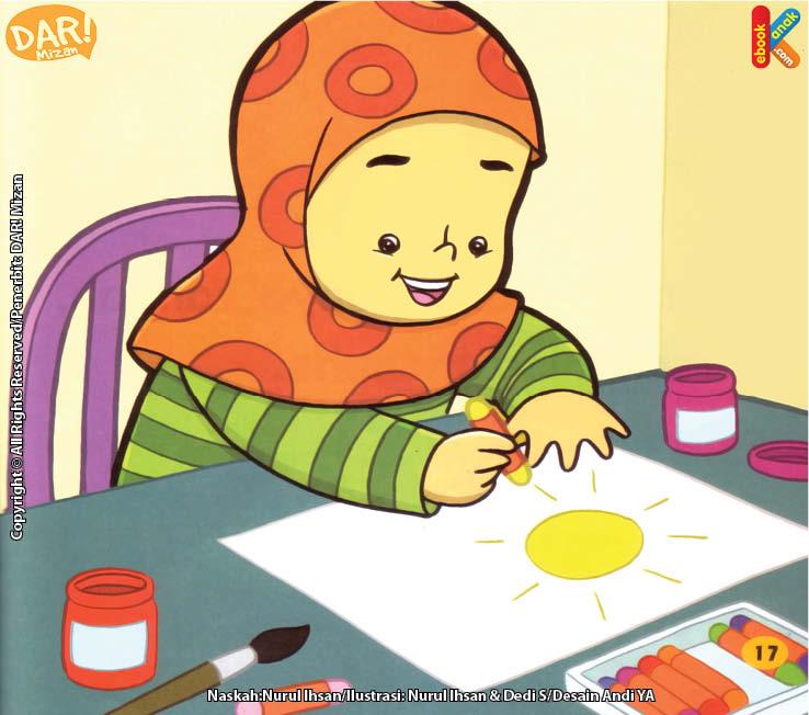Hana Bersyukur Punya Tangan Untuk Menggambar.