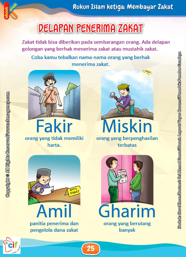 Download Gratis Worksheet 8 Orang Penerima Zakat | Ebook Anak