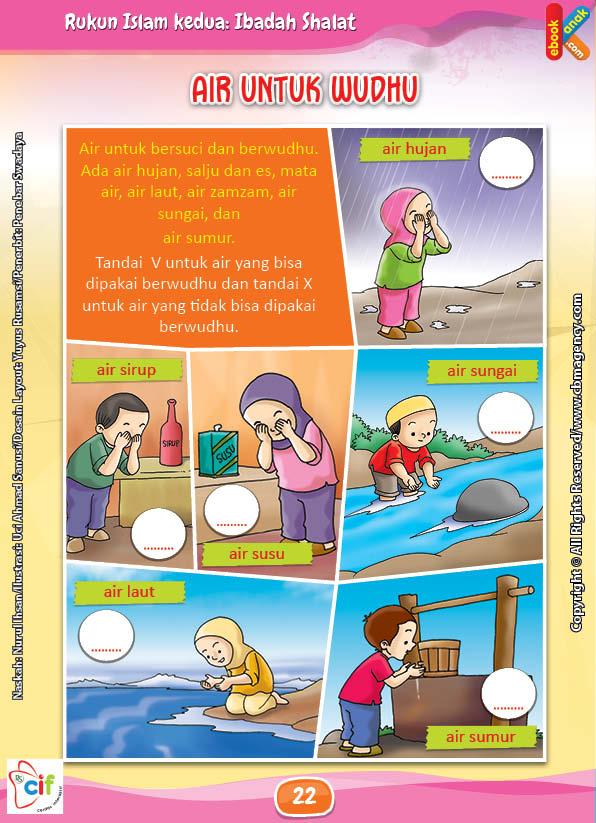 Download Gratis Worksheet Air Untuk Berwudhu