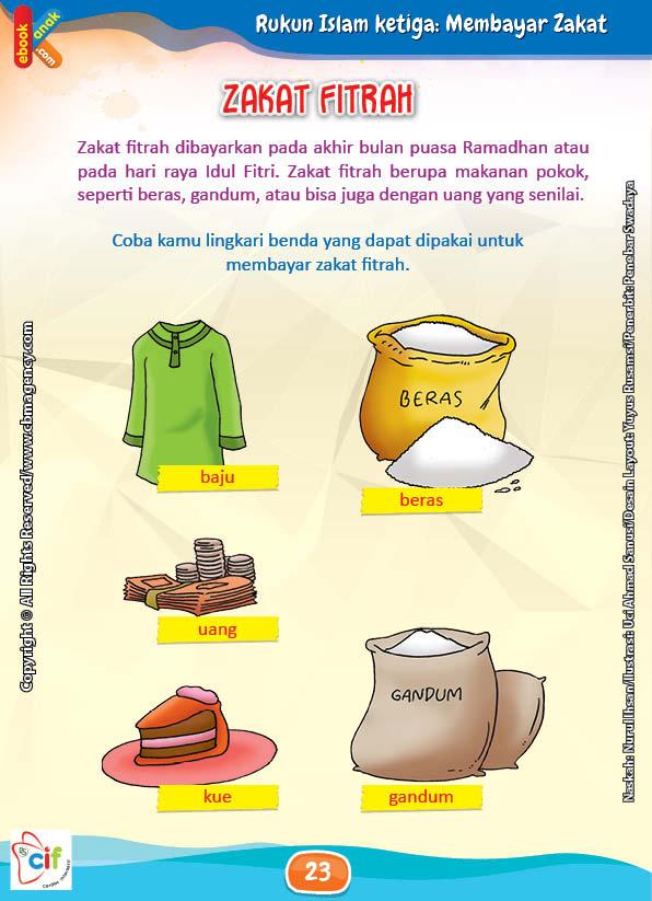 Download Gratis Worksheet Membayar Zakat Fitrah | Ebook Anak