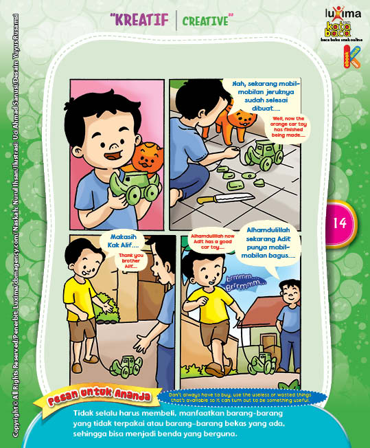 """Mobil-Mobilan Kulit Jeruk """"Toy Car Made of Orange Peel"""" (4)"""