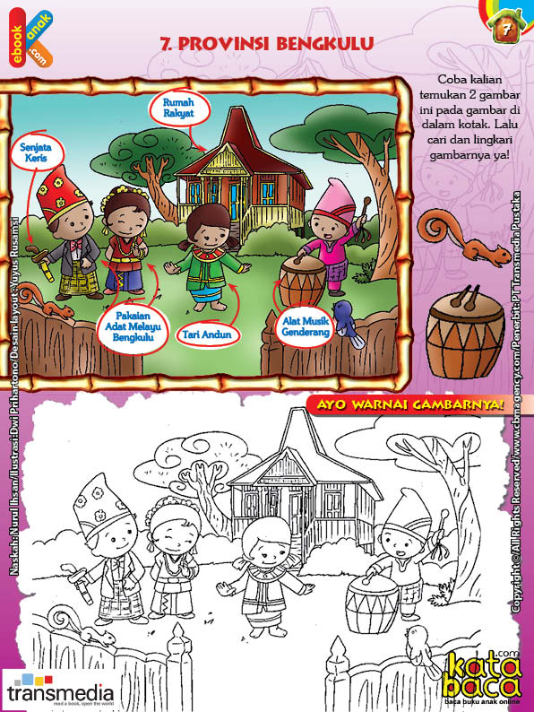 Mengenal Dan Mewarnai Seni Dan Budaya Provinsi Bengkulu Ebook Anak