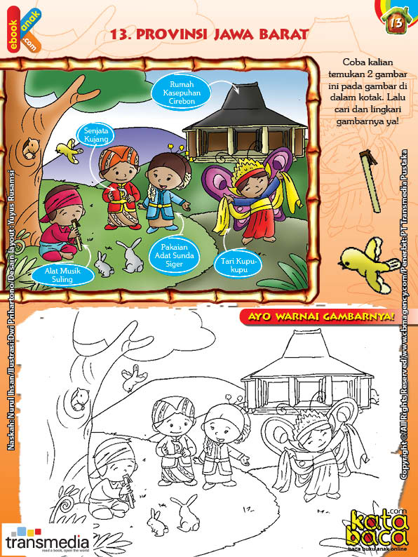 Mengenal Dan Mewarnai Seni Dan Budaya Provinsi Jawa Barat Ebook Anak