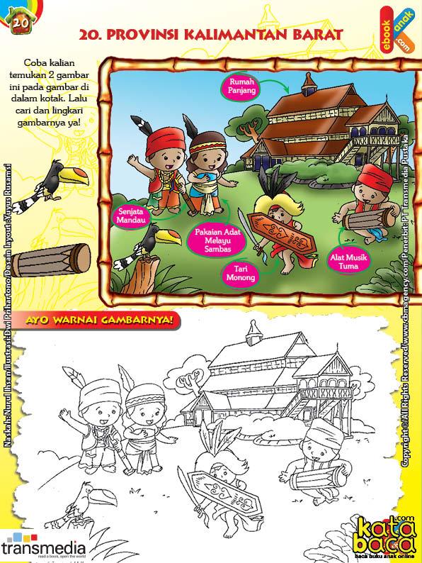 Mengenal dan Mewarnai Seni dan Budaya Provinsi Kalimantan Barat