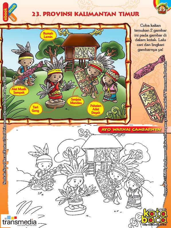 Mengenal Dan Mewarnai Seni Dan Budaya Provinsi Kalimantan Timur