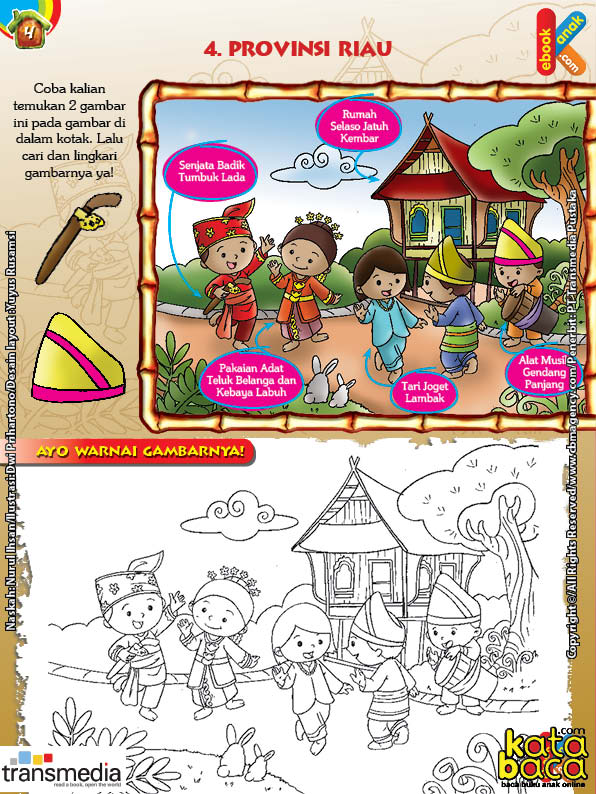 Mengenal Dan Mewarnai Seni Dan Budaya Provinsi Riau Ebook Anak