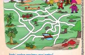 Worksheet PAUD TK Mengenal Buah dan Pohonnya