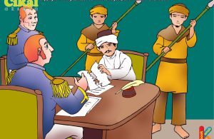 ilustrasi 100 pahlawan Indonesia Sultan Thaha Syaifuddin Berpindah-Pindah Tempat Berperang Dengan Belanda
