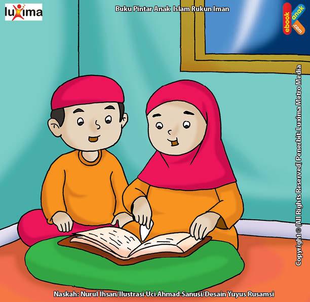 630 Koleksi Gambar Kartun Muslim Baca Al Quran HD Terbaru