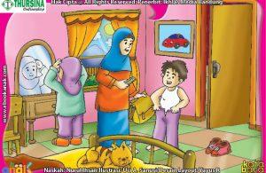ilustrasi anak muslim berpakaian
