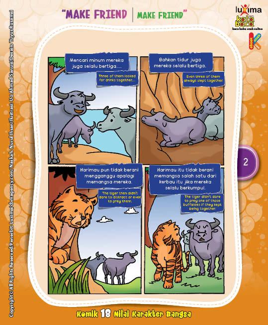 "Persahabatan Tiga Kerbau ""The Friendship of Three Buffaloes"" (2)"