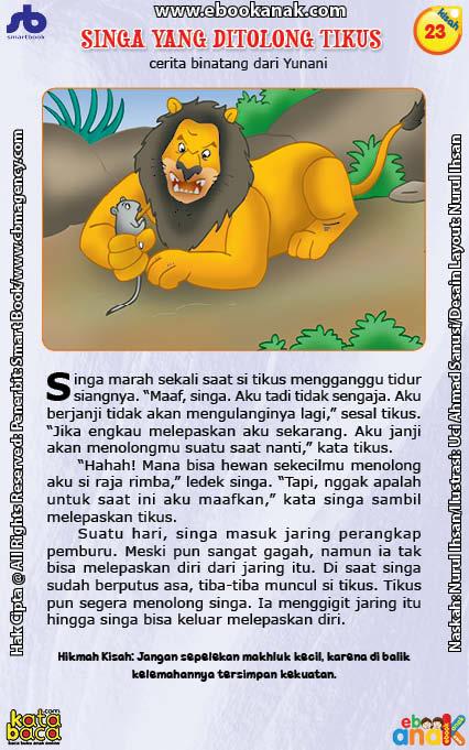 Seri Dongeng Binatang Terbaik Dunia Singa Marah Saat Tikus Mengganggu Tidur Siangnya Ebook Anak