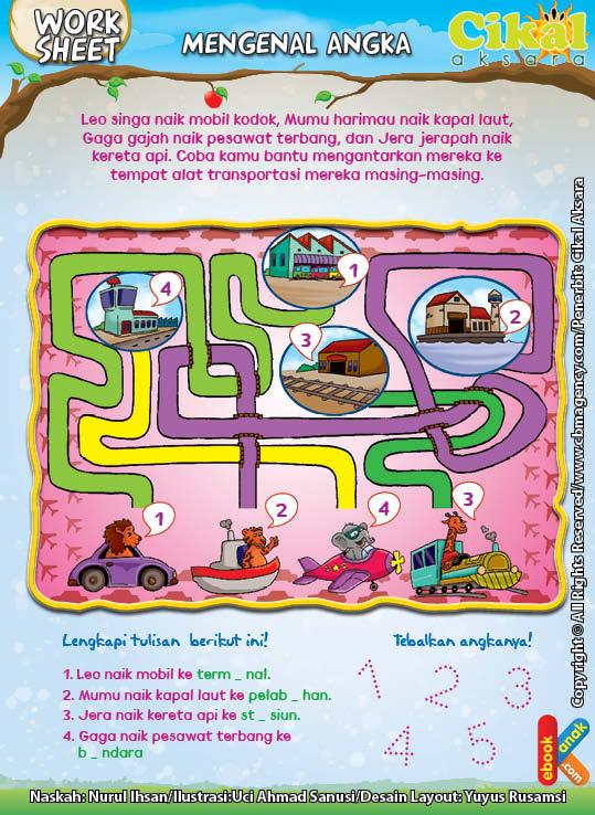 Worksheet PAUD TK Mengenal Angka (3)