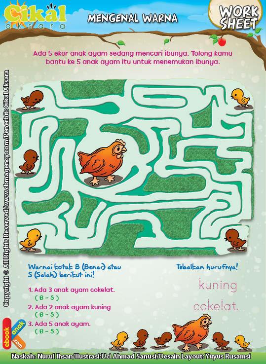 Worksheet PAUD TK Mengenal Warna (6)