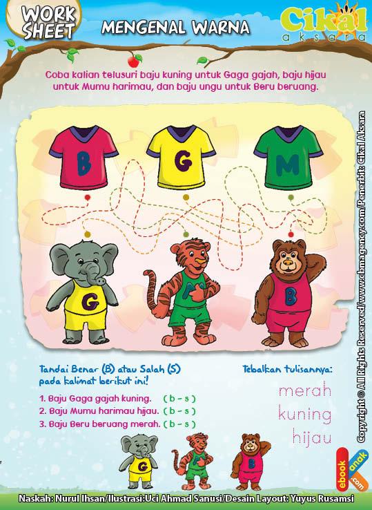Worksheet PAUD TK Mengenal Warna (3)