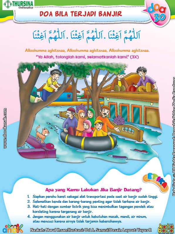 belajar mengenal adab dan doa ketika terjadi banjir