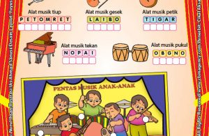 Worksheet PAUD TK A-B Mengenal Alat Musik