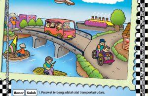Worksheet PAUD TK A-B Mengenal Alat Transportasi Umum