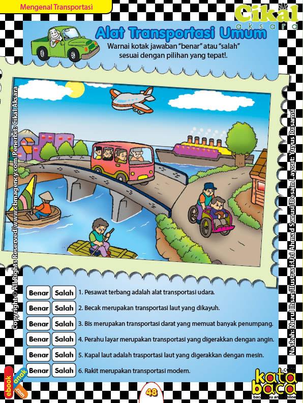 Worksheet Paud Tk A B Mengenal Alat Transportasi Umum Ebook Anak