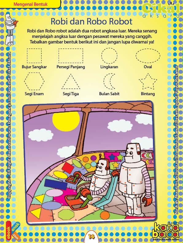 Worksheet PAUD TK A-B Mengenal Bentuk