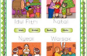 Worksheet PAUD TK A-B Mengenal Hari Raya Keagamaan