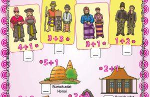 Worksheet PAUD TK A-B Mengenal Rumah Adat dan Pakaian Adat