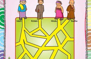 Worksheet PAUD TK A-B Mengenal Tempat Ibadah