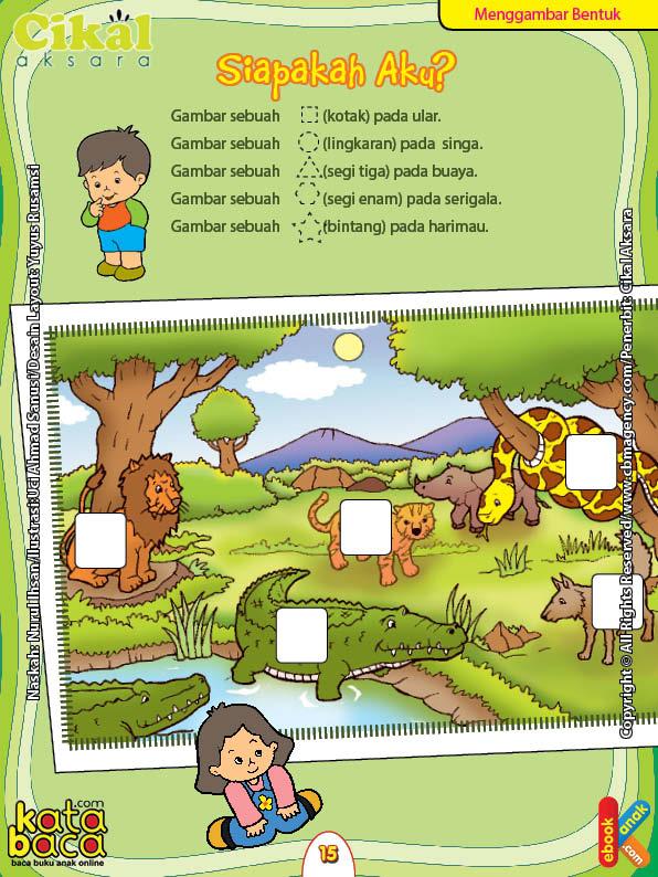 Worksheet PAUD TK A-B Menggambar Bentuk