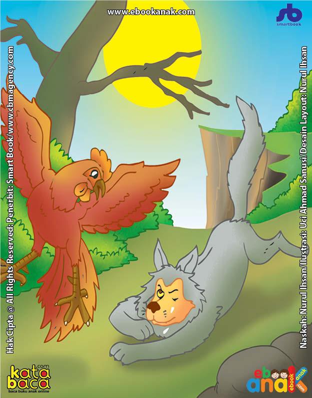 Ayam Jago yang Menyuruh Serigala Berdoa Memejamkan Mata