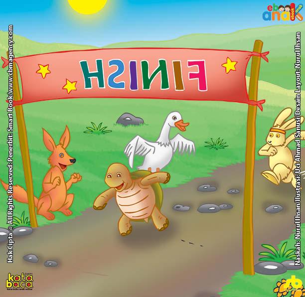Ilustrasi Seri Dongeng Binatang Terbaik Dunia Lomba Lari Si Kencang Kiki Kelinci Dan Si Lambat Kura Kura Ebook Anak