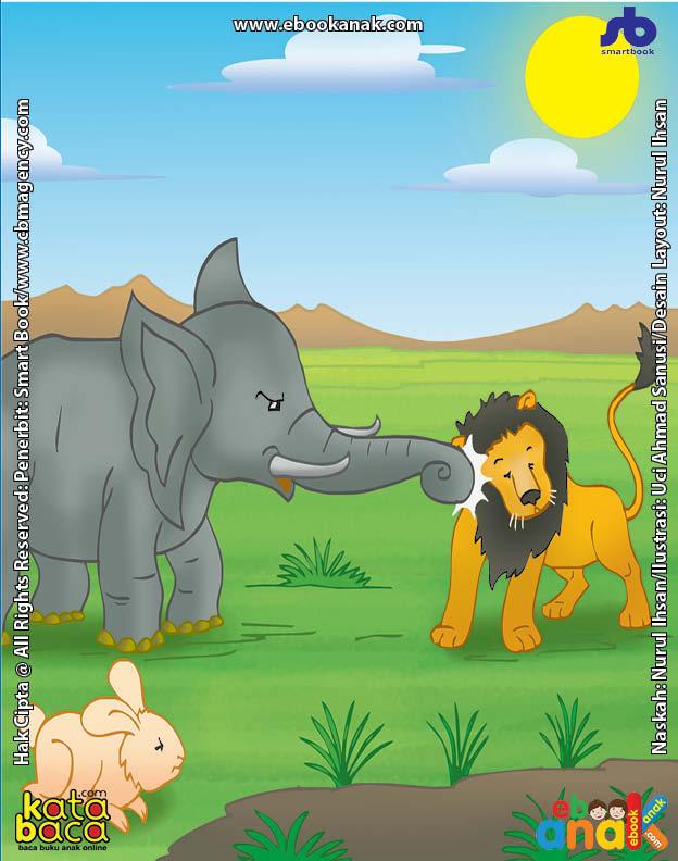 Singa Sombong yang Takut Kepada Gajah