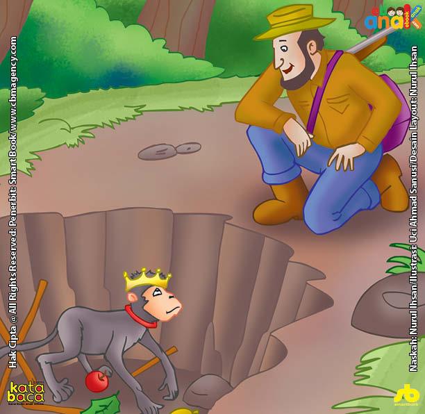 Kera Si Raja Pemalas yang Terperosok ke dalam Lubang Jebakan