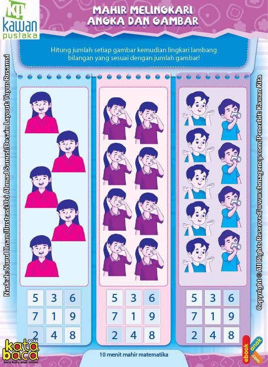 Worksheet PAUD TK A-B Mahir Melingkari Angka dan Gambar (1)