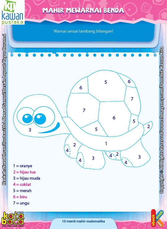 Worksheet PAUD TK A-B Mahir Mewarnai Benda (1)
