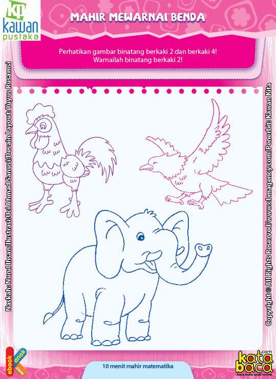 Worksheet PAUD TK A-B Mahir Mewarnai Benda (2)